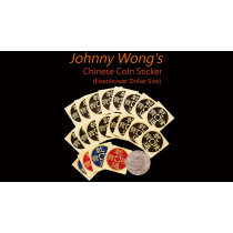 Johnny Wong's Chinese Coin Sticker 20 pcs (Eisenhower Dollar Size)