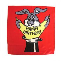 """Happy birthday silk - 90 cm (36"""")"""