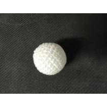 Crochet Balls Metal  - Häkelball weiss 2.5 cm Handarbeit