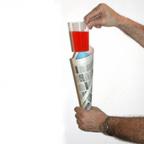 Comedy Glass in Paper Cone by Bazar de Magia
