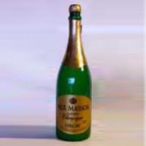 Verschwindende Champagner Flasche