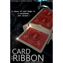 Card on Ribbon (BLUE) by Mickael Chatelain