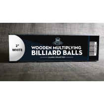 """Wooden Billiard Balls (2"""" White) by Classic Collections"""