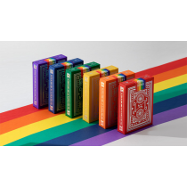 DKNG Rainbow Wheels (Red) Playing Cards by Art of Play