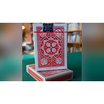 Experts Thin Crushed Tally Ho Fan Back (Red) Playing Cards