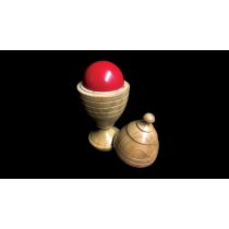Deluxe Wooden Ball Vase by Merlins Magic