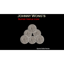 Super Triple Coin QUARTER (with DVD) by Johnny Wong