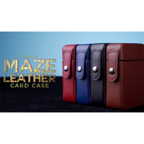 MAZE Leather Card Case (Black) by Bond Lee