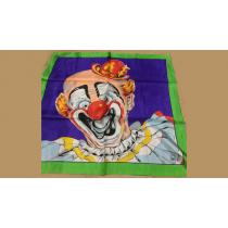 """Rice Picture Silk 27"""" (Circus Clown) by Silk King Studios - Seidentuch"""