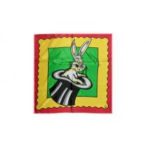 "Rice Picture Silk 27"" (Rabbit in Hat) by Silk King Studios - Seidentuch"
