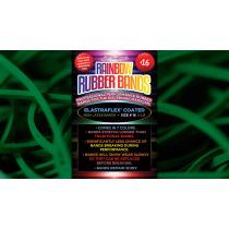 Joe Rindfleisch's SIZE 16 Rainbow Rubber Bands (Marcus Eddie - Green Pack  ) by Joe Rindfleisch - Trick