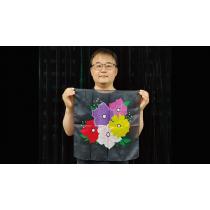 Silk Flower Design BLACK (18in) by JL Magic