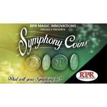 Symphony Coins (US Kennedy Half Dollar) Gimmicks and Online Instructions by RPR Magic Innovations