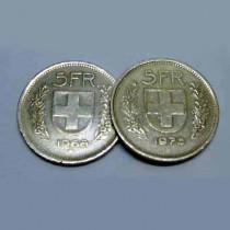5 Franken doppelseitig