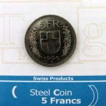 5 Franken Münze mit Stahlkern
