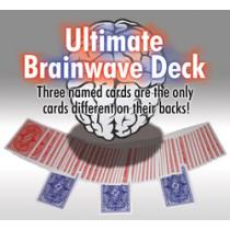 Ultimate Brainwave-Deck rot, blau sortiert / Large Index by Card-Shark