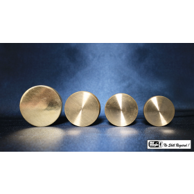 Nested Coin Box Brass (4) by Mr. Magic
