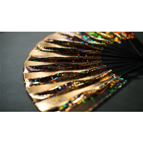 Appearing SnowStorming Fan V2 (Gold Hologram) by Victor Voitko (Gimmick and Online Instructions)