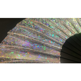 Appearing SnowStorming Fan V2 (Silver Hologram) by Victor Voitko (Gimmick and Online Instructions)