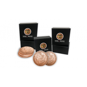 Copper Morgan TUC plus 3 Regular Coins (Gimmicks and Online Instructions) by Tango Magic
